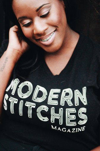 Modern Stitches Printed tee with Ashley